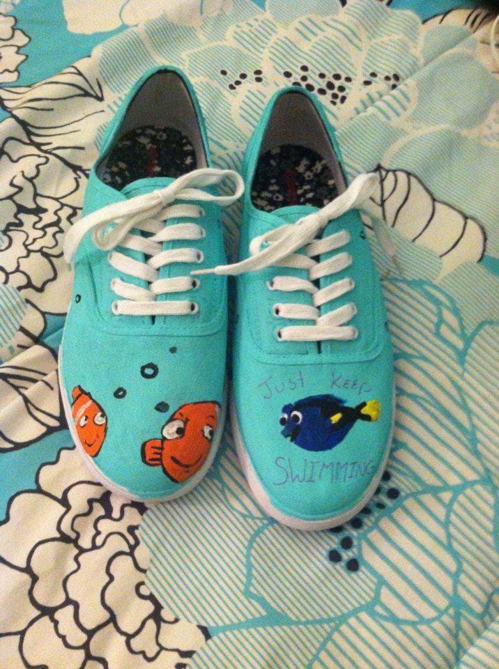 de8d6da7c888 Finding Nemo Custom Disney Shoes Keds by SecondStarToDisney