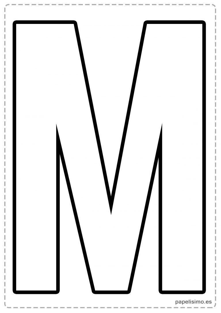 M letras para recortar y pegar guirnalda feliz cumplea os for Formas de letras para cumpleanos