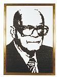 Jaakko Veijola and Teemu Väätäinen made two portraits of Kekkonen using black Sisu pastilles* as their medium