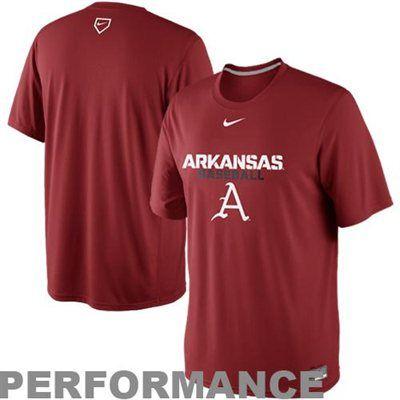 new product 08ce5 9c5f8 Nike Arkansas Razorbacks Baseball Legend Performance T-Shirt ...