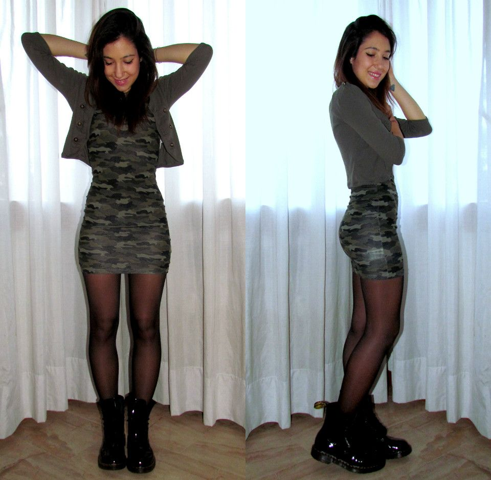 brand new order online factory authentic Dr Martens Outfits Tumblr Camo dress, dr. martens ...