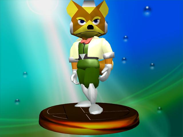 Star Fox 64 Fox Mccloud Super Smash Bros Melee Trophy Super