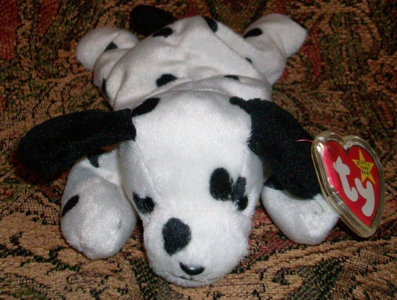 7ee138727f3 This is so adorable! Cute   Cuddly! Dotty the Dalmatian TY Beanie Baby  Style 4100 with Tag Like New