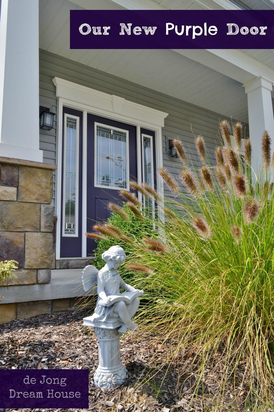 de Jong Dream House: Our purple door