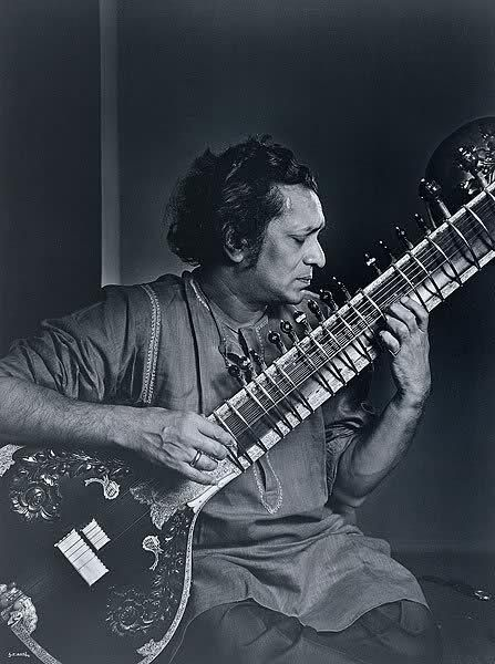 Ravi Shankar (1920-2012) - Indian musician who was one of the best-known exponents of the sitar in the second half of the 20th century as well as a composer of Hindustani classical music. Photo Yousuf Karsh