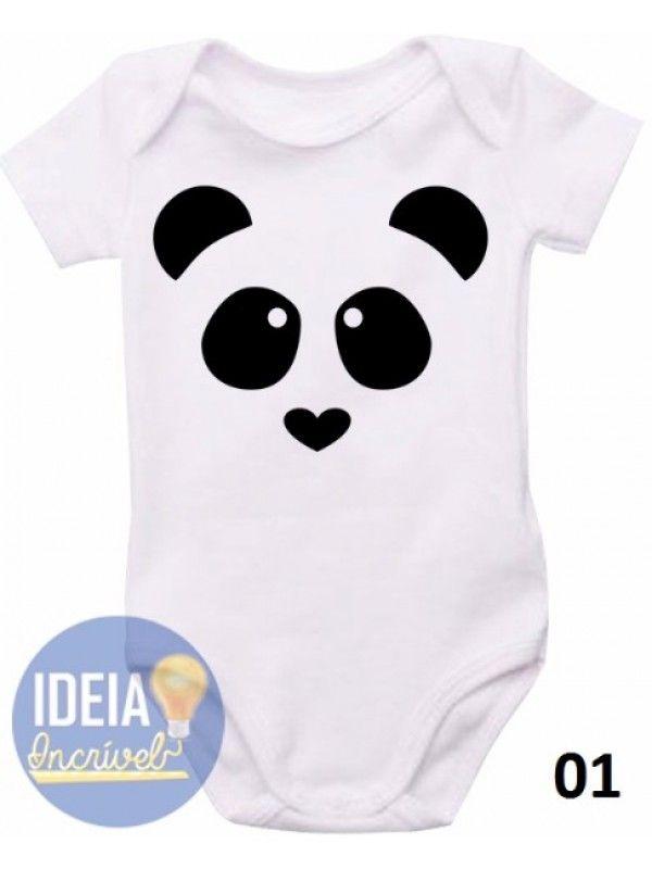 712fb6c40d0a7c Body infantil - Panda | Ropa Bebes Niños & Niñas | Roupa de panda ...