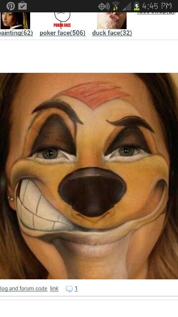 Disney Face Paint/Make-Up & Make-Up Or Mask? 13 Halloween Makeup Looks That Made You See Double ...