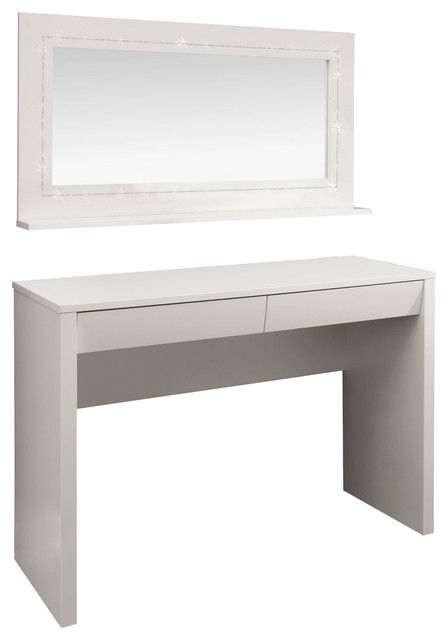 Starlight Dressing Table Desk And Mirror Modern Bedroom