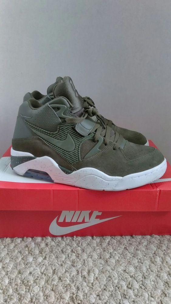 Nike Air Force 180 310095 300 Barkley Cargo Khaki White Size