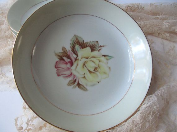 Vintage Narumi Yellow Rose Occupied Japan Soup by thechinagirl, $32.50