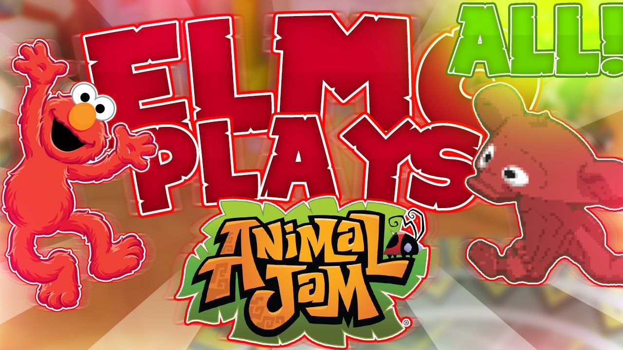 ELMO PLAYS ANIMAL JAM COMPILATION!
