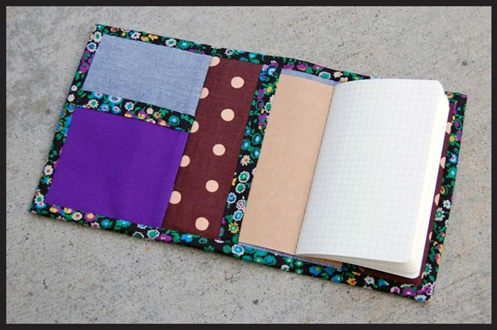 sewing: The Take Note Notebook Wallet Tutorial || imagine gnats