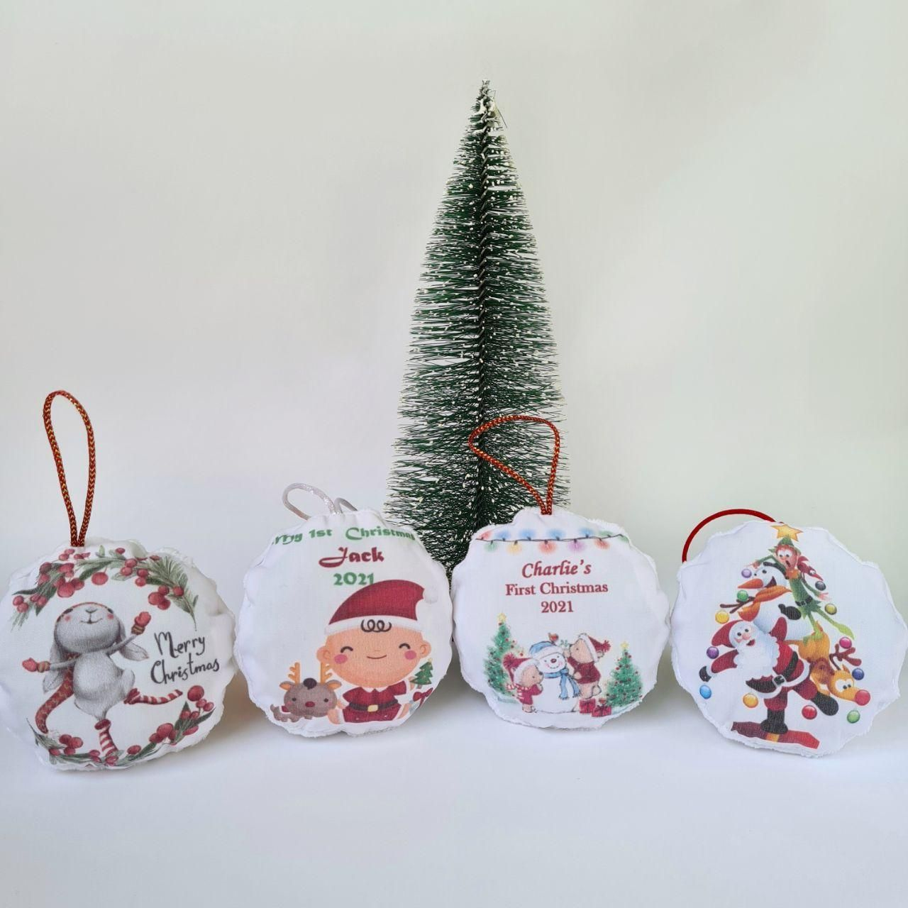 Babys First Christmas Ornament 2020 In 2020 First Christmas Ornament Fabric Christmas Ornaments Christmas Ornaments