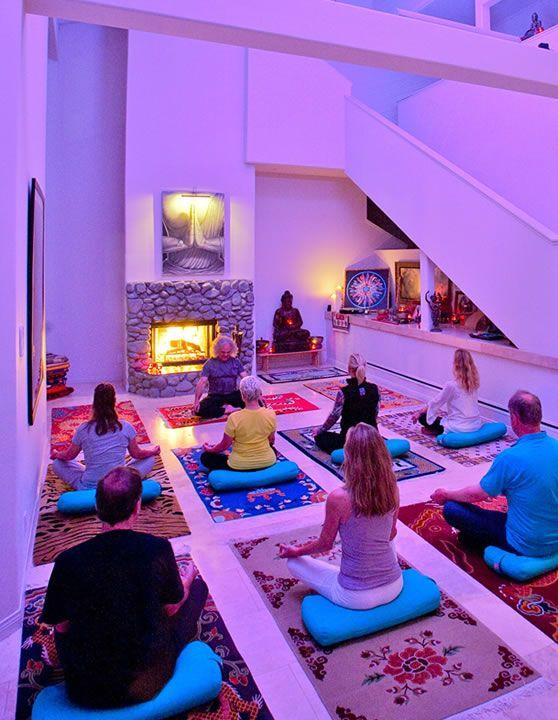yoga class with chromatherapy lighting interior design pinterest