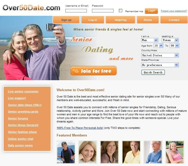 Free senior dating no sign up