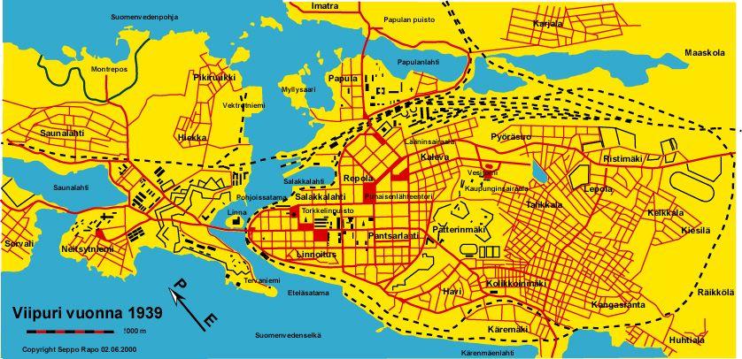 Viipurin Kartta 1939 Kartta Hiekka Isovanhemmat