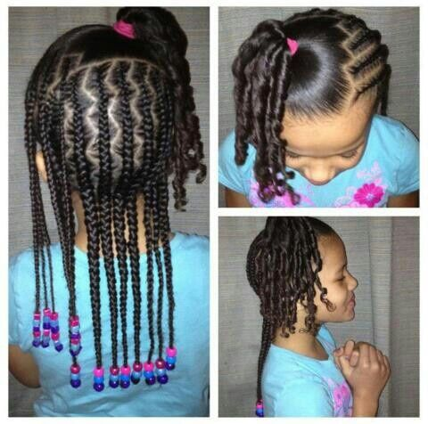 Super 1000 Images About Little Girls Braided Hairstyles With Beads On Hairstyles For Men Maxibearus
