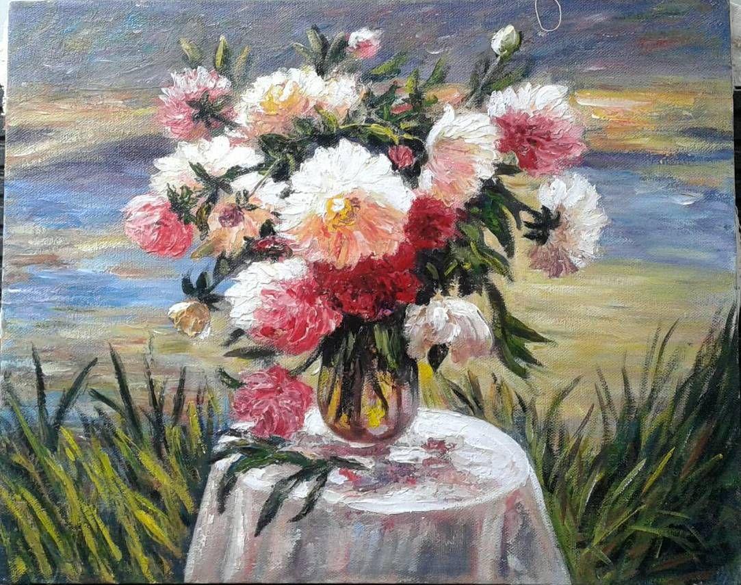 40 50 Cm 087838671118 Lukisan Bunga Lukisan Pensil Gambar Pemandangan Pinterest Paint