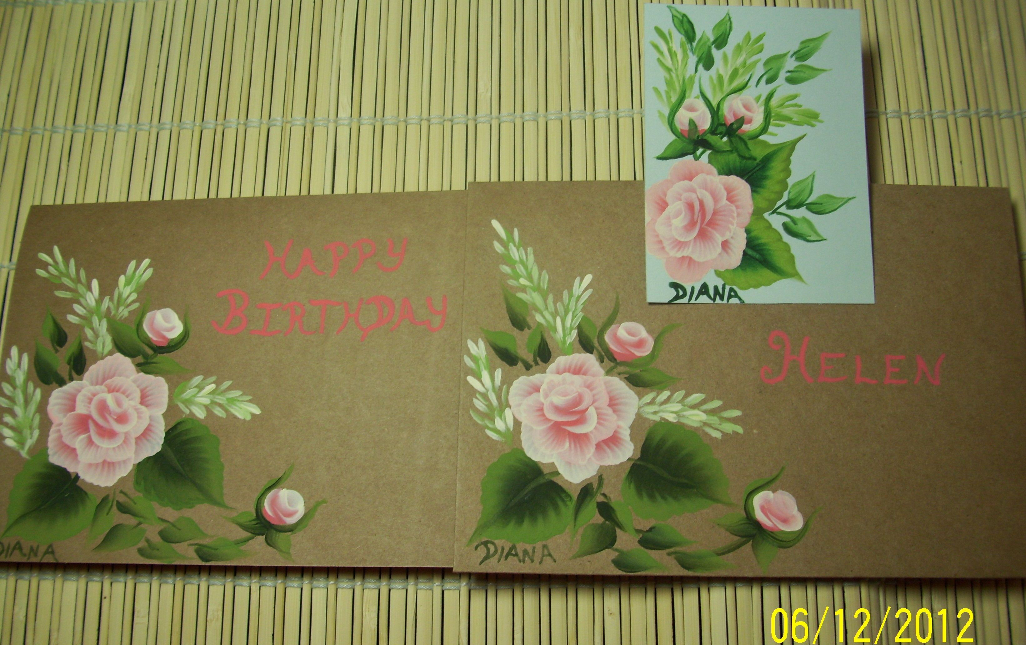 Birthday Card Matching Envelope And Bookmark