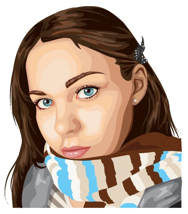 My goal: draw portraits like this- 20 Beautiful Vector Portraits ...