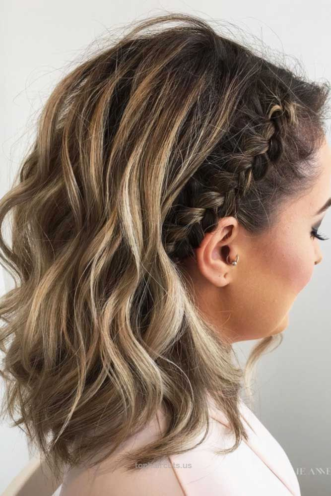 Pin By Scyamrick On Hoco Hairstyles Hair Lengths Braids For Short Hair Cute Braided Hairstyles