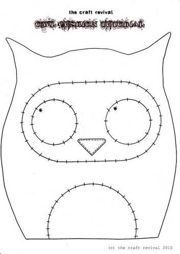 Free Felt Craft Patterns | Topic: Super Cute Owl Cushion + TUTORIAL ...