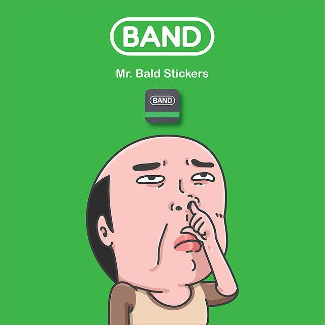 . #nu1t_illust2014 #illustration #doodle #bald #band #stickers ________ 10:17 pm 141008  Mr. Bald stickers on BAND app.  WeChat is coming soon.  네 또 나왔습니다. 앞으로 페북메신저로 하나 더 나오고 중국의 WeChat으로도 (작업중) 나오고 LINE으로도 (시작도 안 했음) 나옵니다.  한국은 카톡세상이라 별로 기대 안 했는데 많이들 사주셔서 이자리를 빌어 감사의 인사를... _ by nu1t