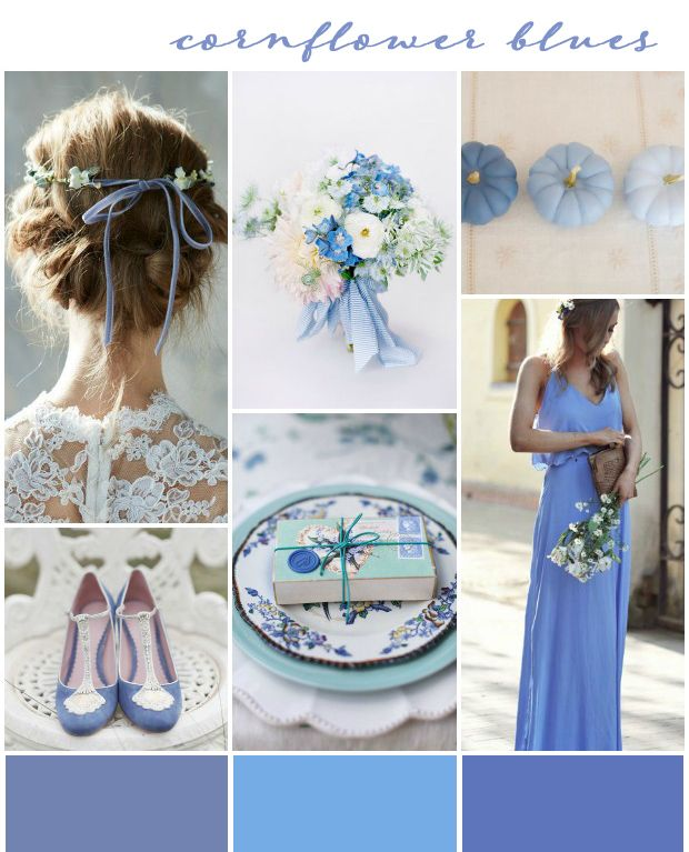 Cornflower Blues Wedding Inspiration Colour Ideas See More At Http