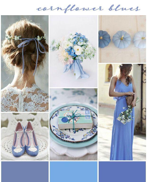 Wedding Ideas And Inspirations: Cornflower Blues: Wedding Inspiration & Colour Ideas