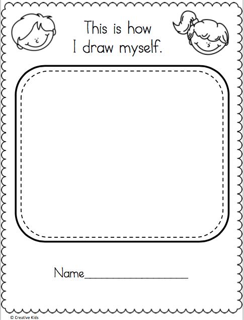 Draw Myself Worksheet Madebyteachers In 2020 Worksheets Free Social Studies Worksheets Map Activities