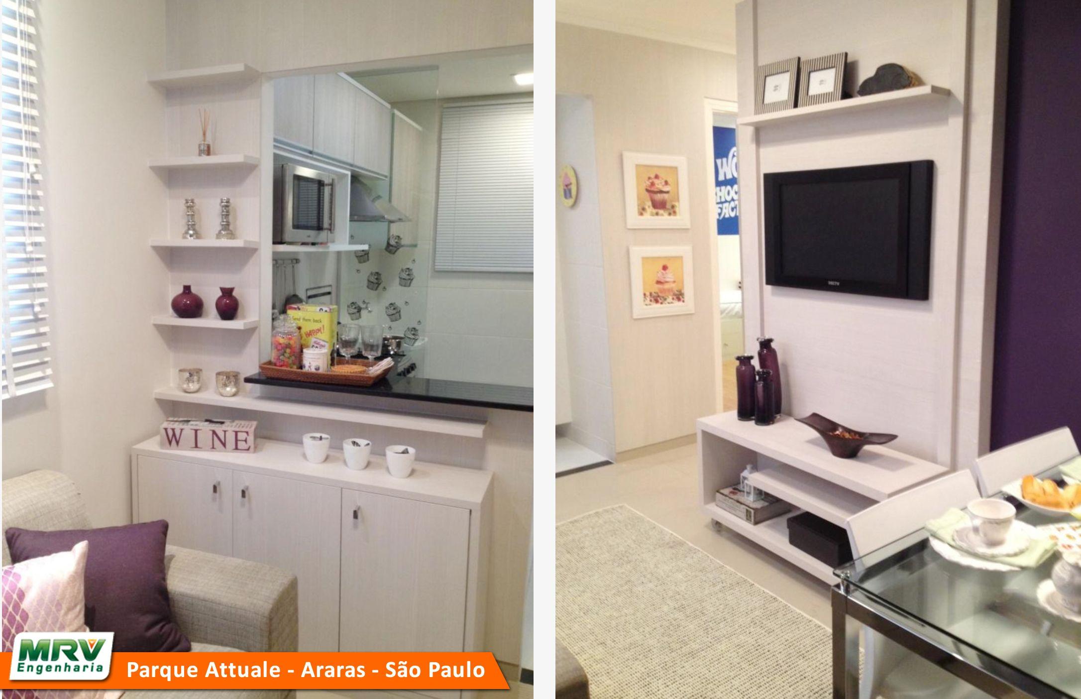 Apartamento Decorado 2 Quartos Do Parque Attualle No Bairro Jardim  -> Apartamento Mrv Decorado Fotos