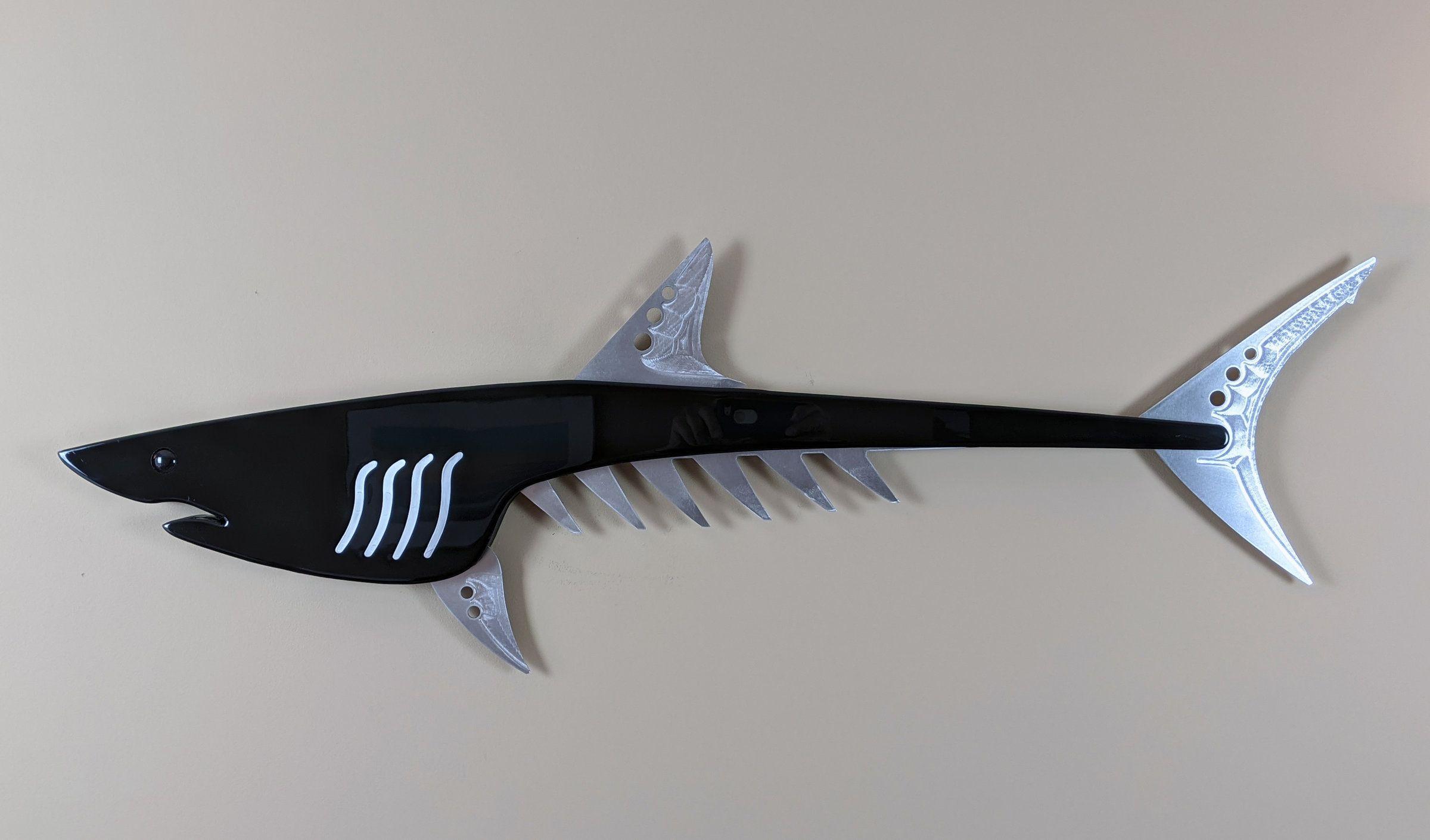 Mako shark in black by mark gottschalk wood metal wall