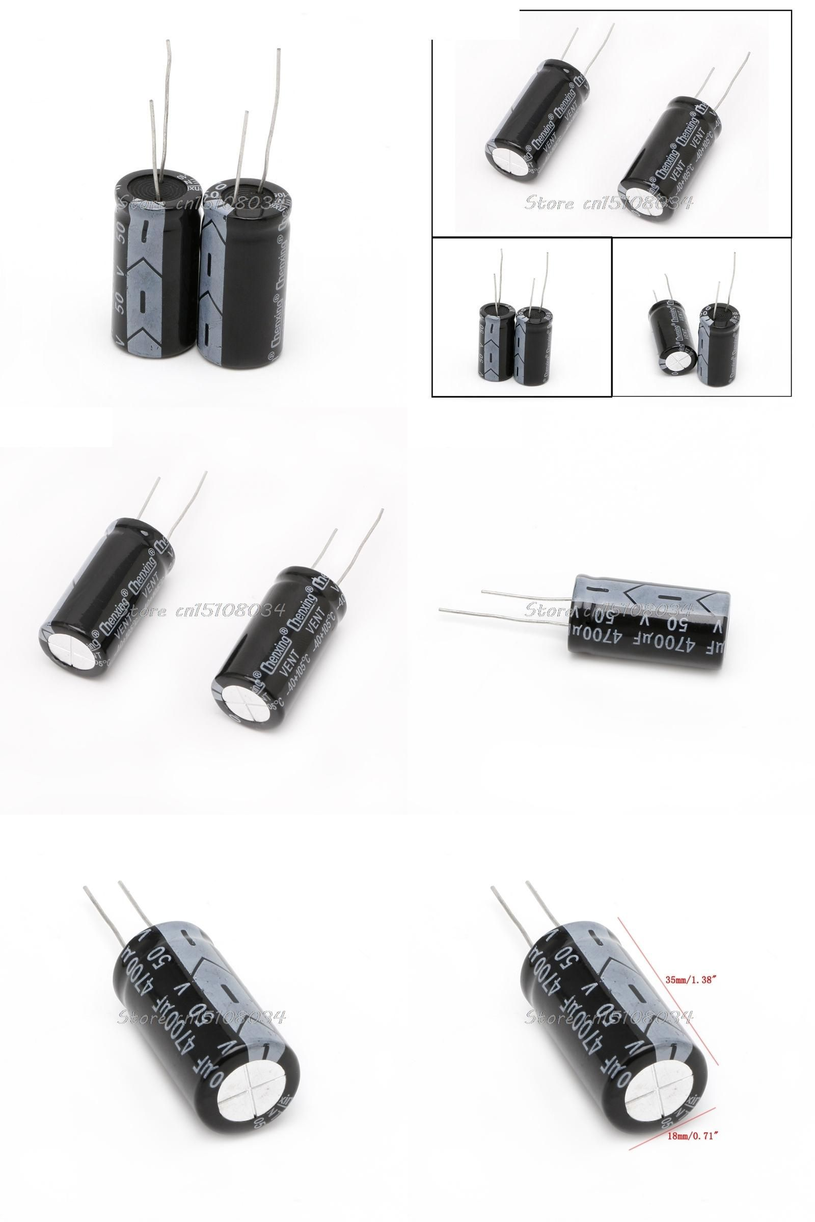 visit to buy  2pcs 50v aluminum electrolytic capacitor 105 degree 4700uf dimension 18 35mm