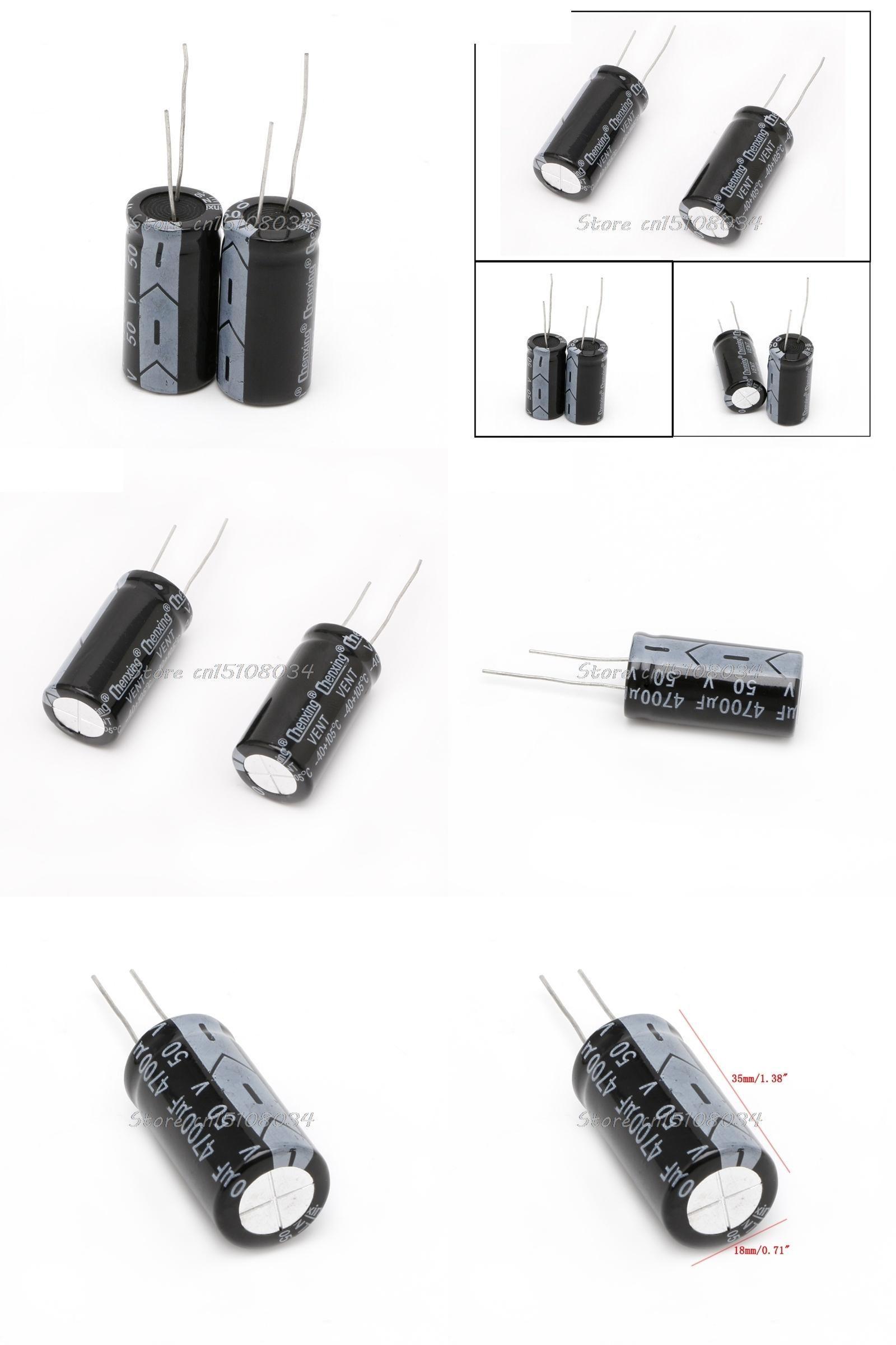 [Visit to Buy] 2Pcs 50V Aluminum Electrolytic Capacitor