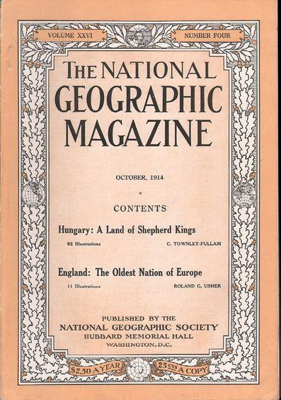 National Geographic October 1914 in 2019 | Magazines