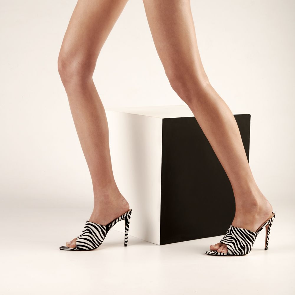 Mules 342179zebra Summer Collection Heels Kitten Heels