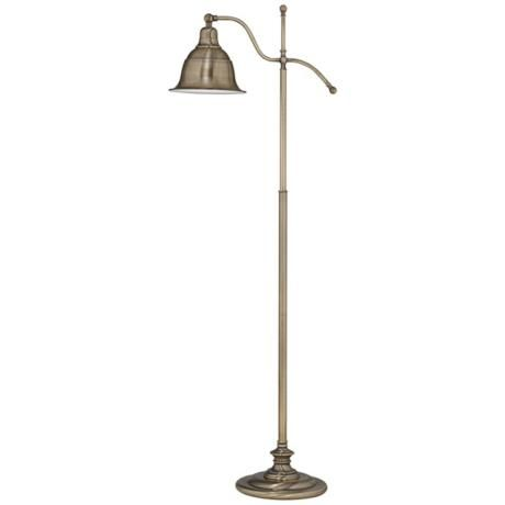 Ott lite lantana antique brass adjustable floor lamp 200 light ott lite lantana antique brass adjustable floor lamp 200 aloadofball Images