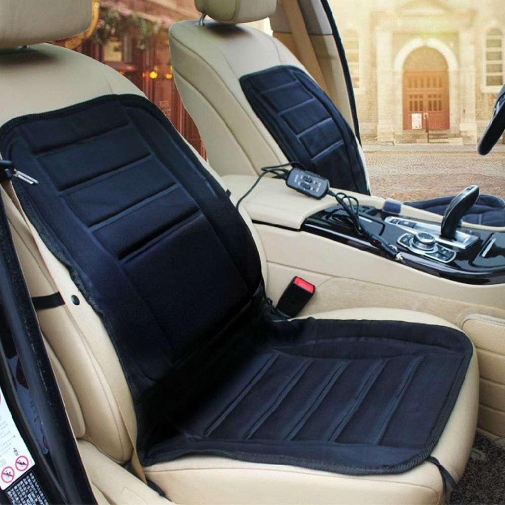 12V Car Heated Seat Cushion Cover Winter Warm Hot Auto