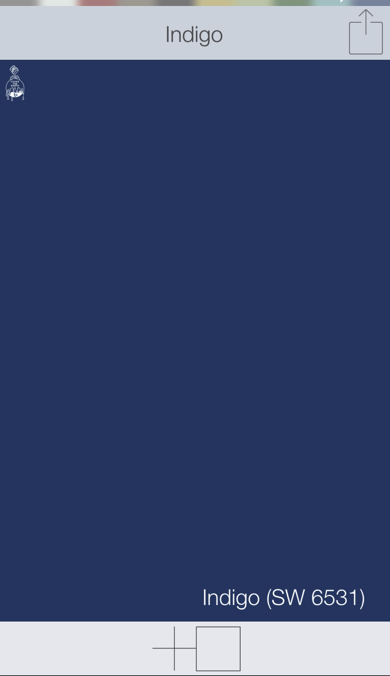 blue front door colors indigo sw 6531 sherwin williams paints swatchdeck app use the. Black Bedroom Furniture Sets. Home Design Ideas