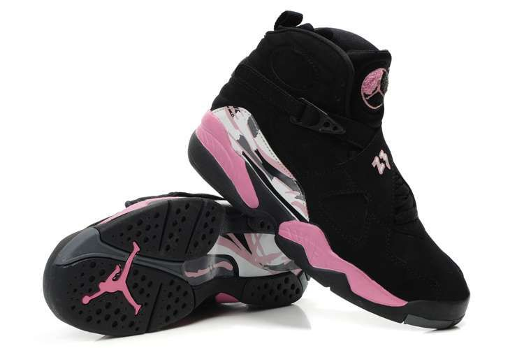 Women Air Jordan 8 Black