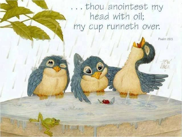 Psalm 23 5 Thou Preparest A Table Before Me In The Presence Of Mine Enemies Anointest My Head With Oil Cup Runneth Over