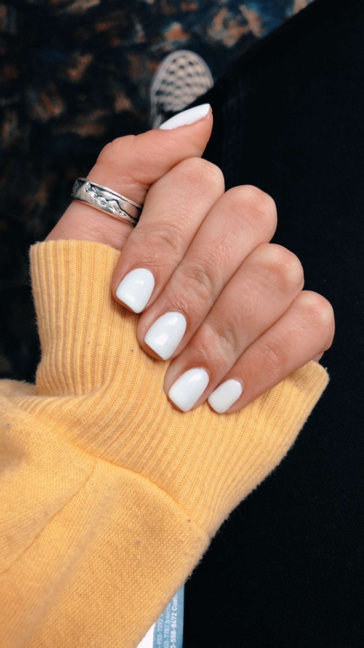 Gaviaboyden Plain Nails Short Acrylic Nails School Nails