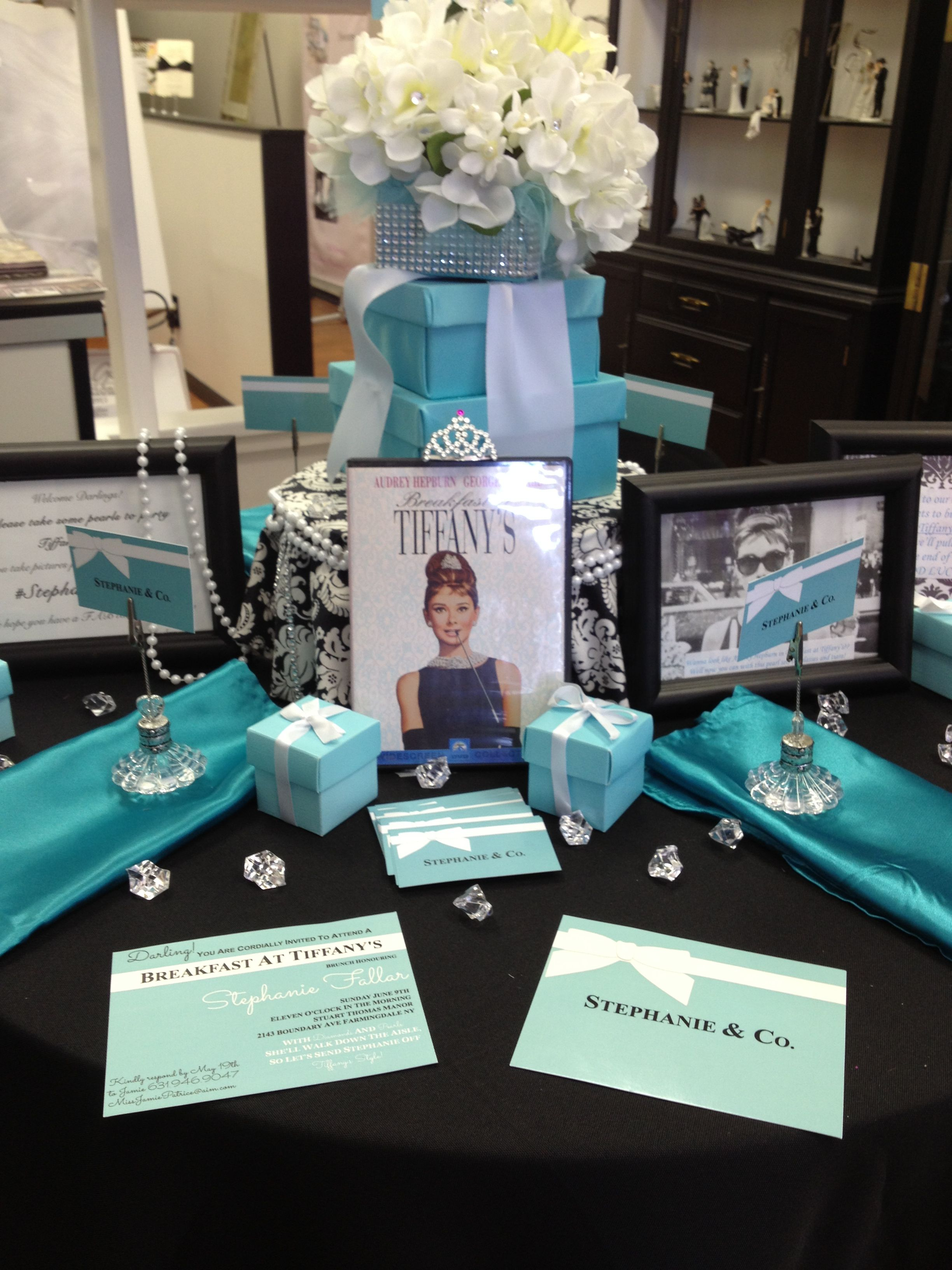 breakfast at tiffanys bridal shower with epicure events and design epicureeventscom