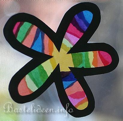 Basteln Mit Kindern Fensterbilder Regenbogen Blumen Http Www