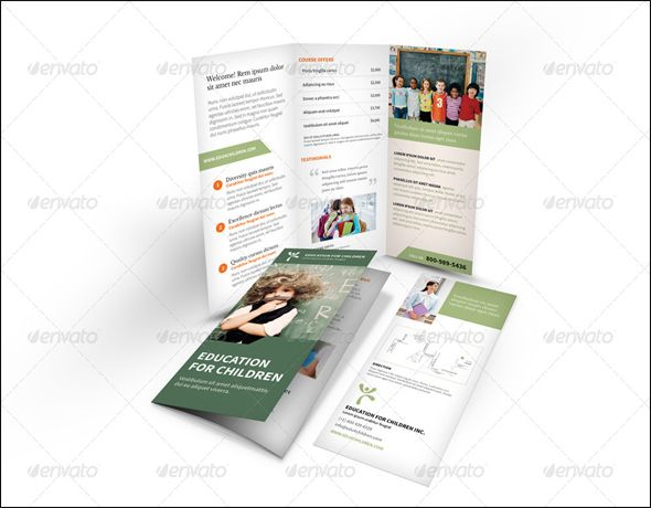 School Brochure Template Free Education Brochure Psd Templates - Template of a brochure