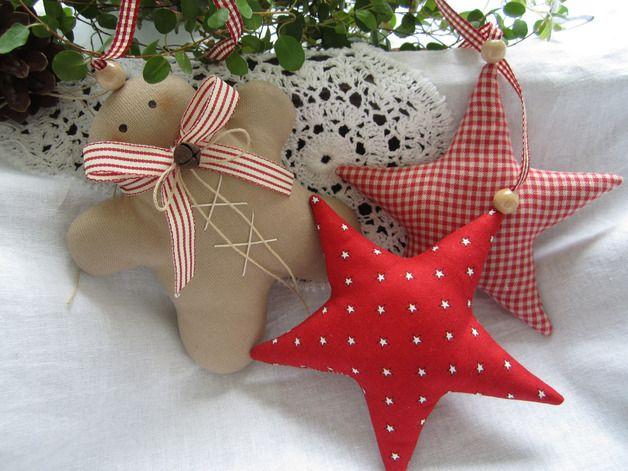 Weihnachtsdeko reserviert lebkuchenmann girlande sterne - Dawanda weihnachtsdeko ...
