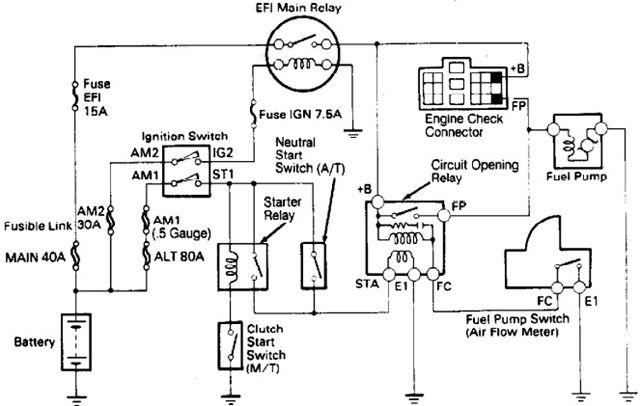 1989 Toyota 4runner Fuel Pump Wiring Diagram Toyota 4runner Toyota Toyota Camry