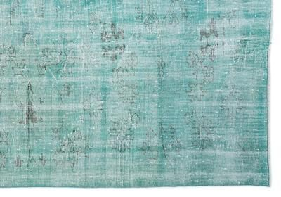 """Photo of Turquoise Over Dyed Vintage Rug 6'7"""" x 9'2"""" ft 200 x 280 cm"""