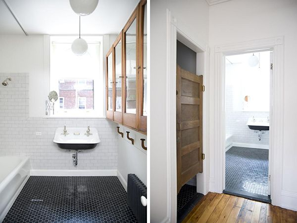 Love that sink and of course, the black tile! via remodelista, photos by Sean Flattery.