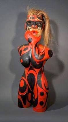 NWC carving by Rande Cook of Victoria, BC via Barry Herem Facebook